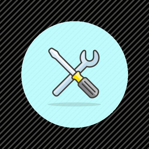 computer, device, programming, screwdriver, tool, tweak icon