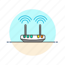 computer, emitter, programming, router, signal, technology, wifi, wireless icon