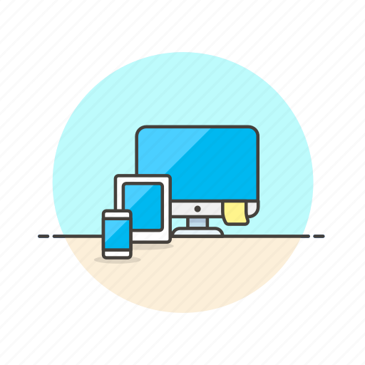 computer, design, device, internet, programming, responsive, tablet, technology icon