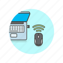 computer, laptop, mouse, programming, remote, wireless icon