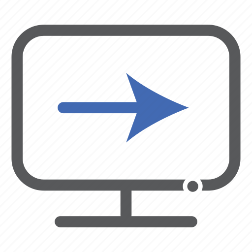 arrow, computer, forward, next icon