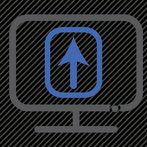 computer, upload icon