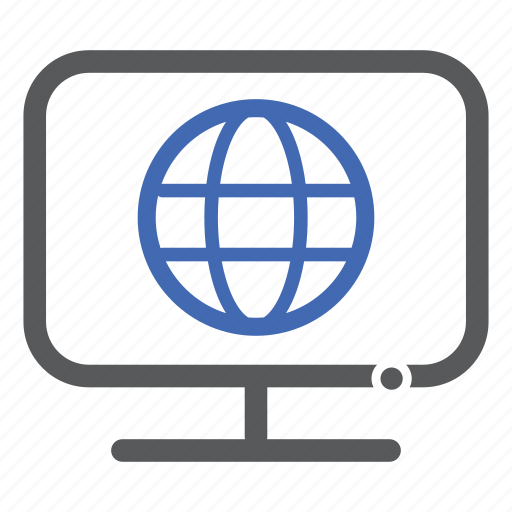 computer, earth, globe, internet, world icon