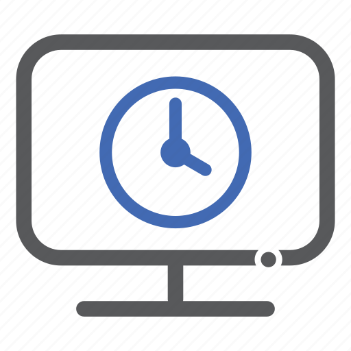 clock, computer, time icon