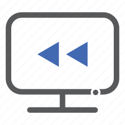 back, backward, computer, previous, rewind icon
