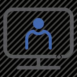 admin, computer, man, people, user icon