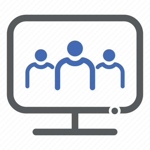 computer, group, users icon