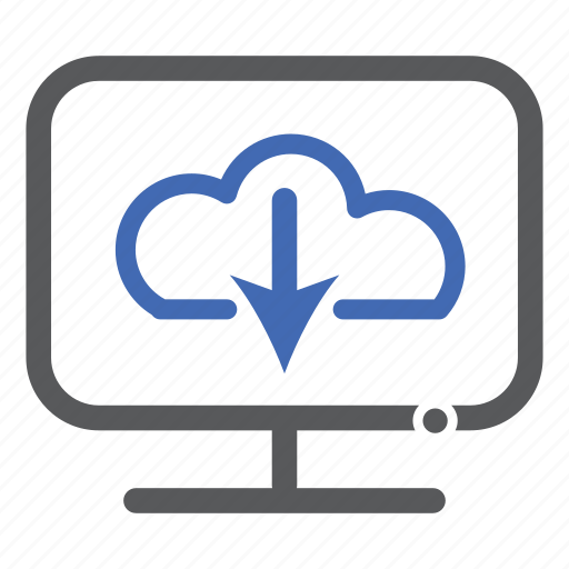 cloud, computer, download, storage icon