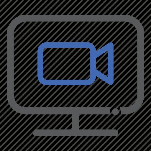 computer, record, video icon