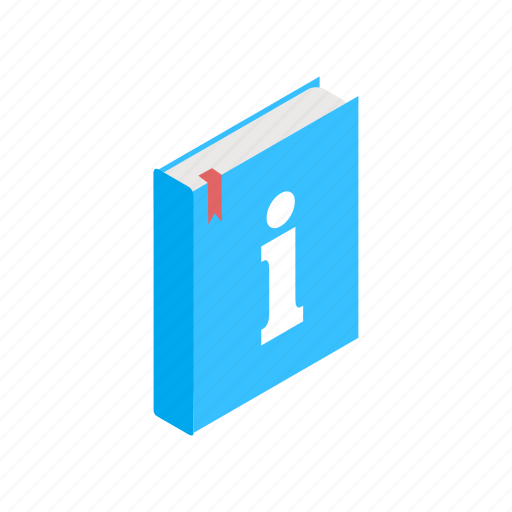 book, information, isometric, paper, sign, text, textbook icon