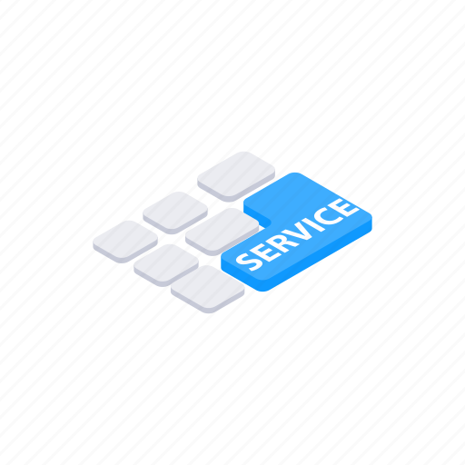 computer, concept, isometric, keyboard, pc, service, useful icon