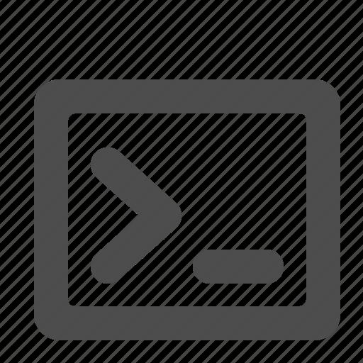 coding, command, command window, programming icon