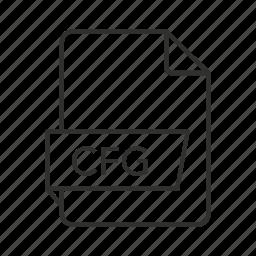 cfg, cfg file, cfg icon, config file, config icon, configuration, configuration file icon