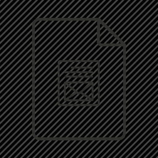 file, mail, mail file, mail file icon, mail icon, you've got mail icon