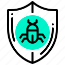 antivirus, bug, insect, protection, shield, virus icon