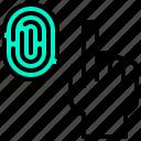 finger, fingerprints, gesture, hand icon
