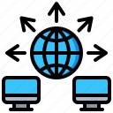 communication, computer, data, desktop, global, network icon