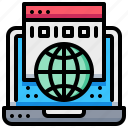computer, digital, earth, global, information, website icon