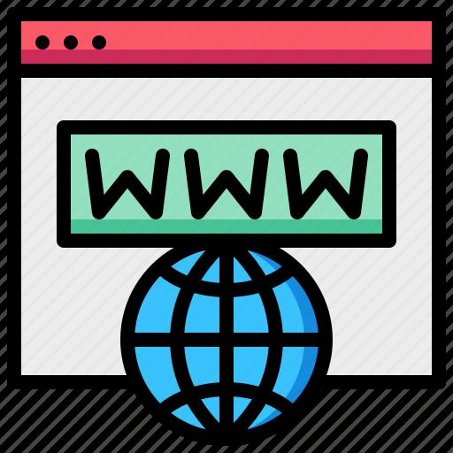 domain, earth, global, name, web, website icon