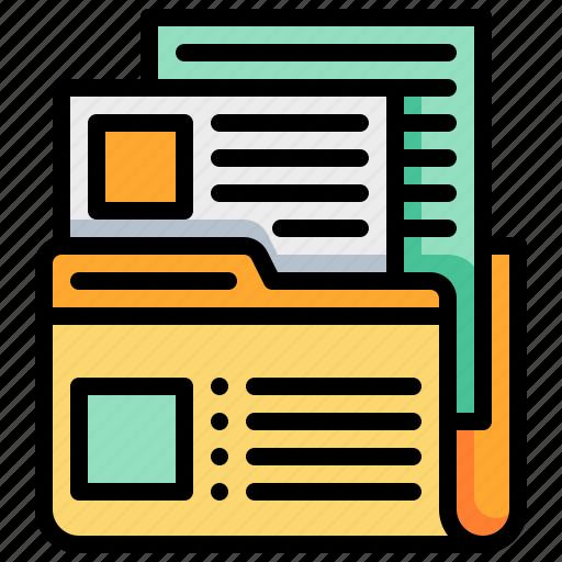 data, database, document, file, folder icon