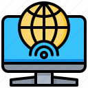 computer, global, internet, technology, wireless icon