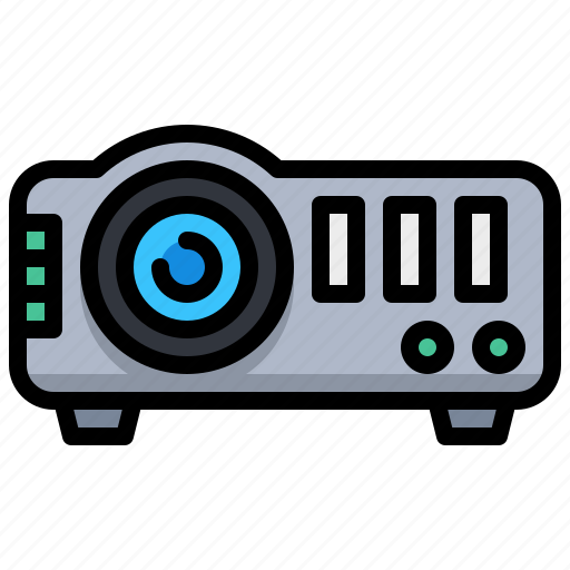 computer, presentation, projector, technology icon