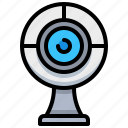 camera, recording, technology, video, webcam icon