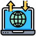 computer, global, laptop, notebook, web, wide, world icon