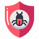 antivirus, bug, insect, protection, shield, virus