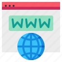 domain, earth, global, name, web, website icon