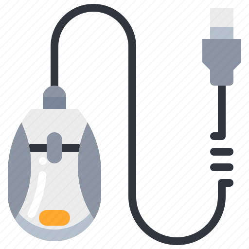 click, computer, device, mouse, technology, usb icon