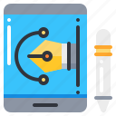 creative, design, pen, pencil, tablet icon
