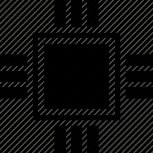 chip, computer, cpu, microchip, processor icon