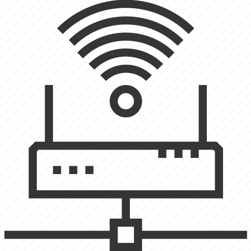 connect, internet, network, router, signal, wave, wi-fi icon
