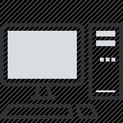 computer, desktop, electronics, hardware, internet, keyboard, mouse icon