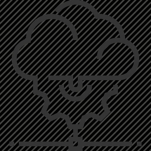 cloud management, cog, gear, internet, share, wheel icon
