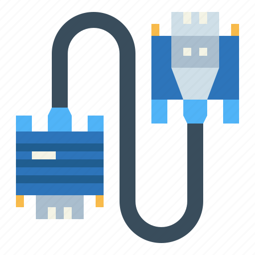 cable, connection, electronics, usb icon