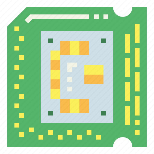 chip, computer, processor, ram icon