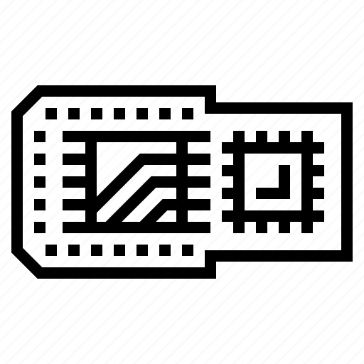 board, chip, circuit, microchip icon