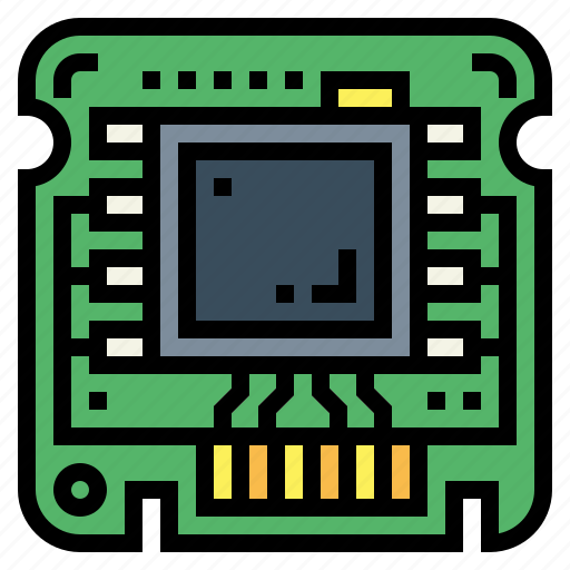 chip, motherboard, processor, technology icon
