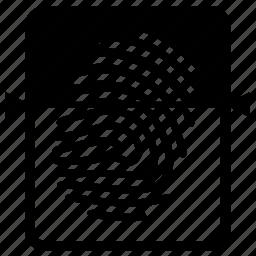 fingerprint, scanning icon