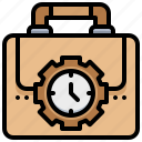 bag, clock, speed, suitcase, time icon
