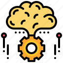 brain, gear, idea, inspiration, perception, process icon