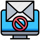 computer, mail, no, spam, technology icon