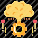 brain, gear, idea, inspiration, perception, process icon