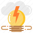 cloud, creative, idea, lightbulb, lighting, power icon