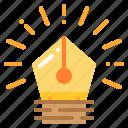 creative, idea, innovation, inspiration, pen icon
