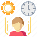 clock, human, man, management, time icon