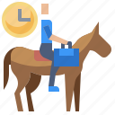 clock, fast, horse, quick, speed, working icon