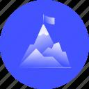 ambition, mountain, peak, accomplish, top, leader, aspiration
